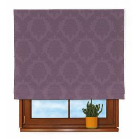 image-Damascus Roman blind Dekoria Size: 170 cm L x 160 cm W, Finish: Purple