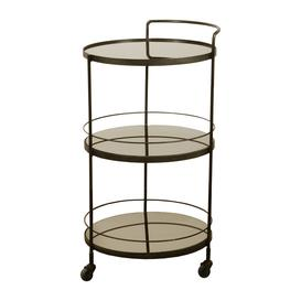 image-Ethnicraft - Lucy Bar Cart - Bronze