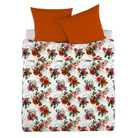 image-Coalpit Heath Bedspread Brayden Studio Size: 280 cm L x 180 cm W, Colour: Orange