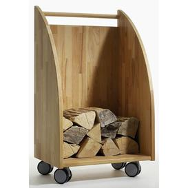 image-Lucy Firewood storage cart made of solid wood Ebern Designs
