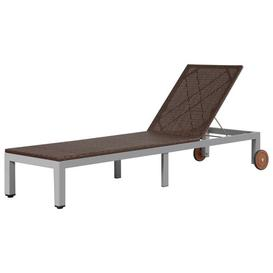 image-Forest Reclining Sun Lounger Sol 72 Outdoor Colour (Textile): Brown