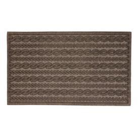 image-Emerson Knit Cable Boot Trays & Scraper Marlow Home Co. Colour: Brown, Mat Size: 0.5cm H x 75cm L x 45cm W