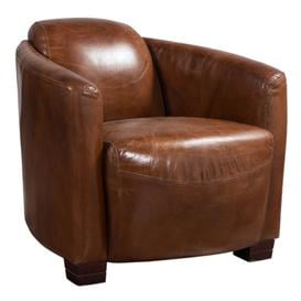 image-Marlborough Vintage Distressed Leather Tub Chair