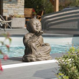 image-Kahl Happy Shaolin Monk Garden Statue Bloomsbury Market