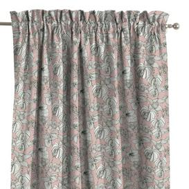 image-Brooklyn Slot Top Room Darkening Single Curtain Dekoria Size: 130 x 260cm, Colour: White/Pink