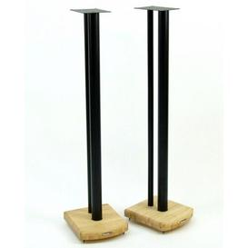 image-100cm Fixed Height Speaker Stand Symple Stuff Finish: Black/Natural Bamboo