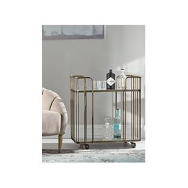 image-Mirrored Drinks Trolley