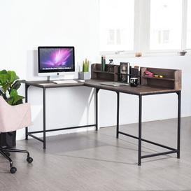 image-Mariyah L-Shape Computer Desk Williston Forge