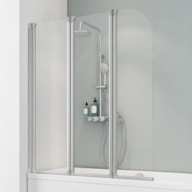image-Komfort Curved Glass Bifold Bath Screen