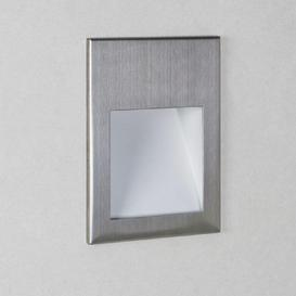 image-Astro 1212032 Borgo One Light LED Recessed Wall Light In Brushed Stainless Steel, 2700K - H: 70mm