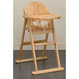 image-Folding Wooden Highchair