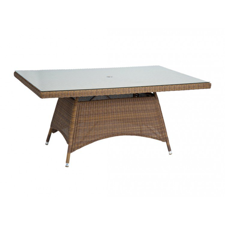 image-Alexander Rose San Marino Round Weave Garden 160cm Glass Top Table