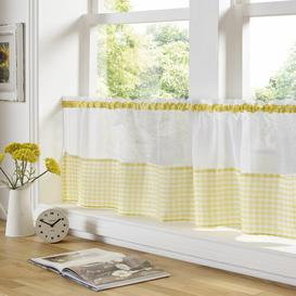 image-Rosas Slot Top Sheer Single Curtain Brambly Cottage Size: 149 W x 60 D cm, Colour: Yellow
