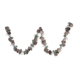 image-A by AMARA Christmas - Frosted Pinecone & Pearl Berry Garland