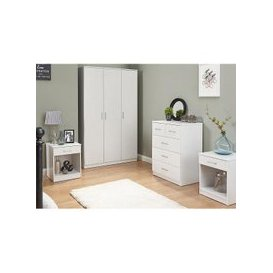 image-Almandite Wooden Bedroom Furniture Set In White