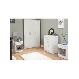 image-Almandite Wooden Bedroom Furniture Set In White