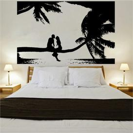 image-Couple At Sunset Wall Sticker Bay Isle Home Colour: Light Blue, Size: Large