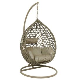 image-Cordoba Hanging Chair with Base, Taupe