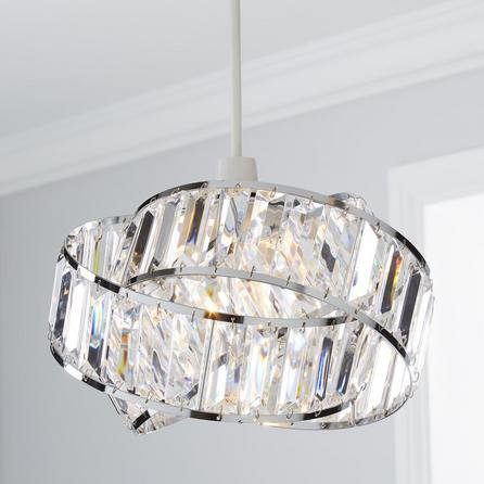 image-Lilia Acrylic Clear Easy Fit Pendant Clear