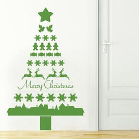 image-Nordic Christmas Tree Wall Sticker East Urban Home Colour: Blue