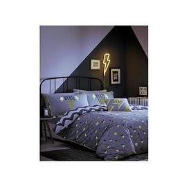 image-Appletree Hero Glow In The Dark Duvet Cover Set - Double