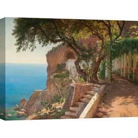 image-'Pergola in Amalfi' by Carl Frederic Aagaard - Wrapped Canvas Painting Print Ophelia & Co. Size: 50cm H x 70cm W x 4cm D