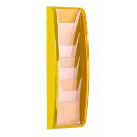 image-Panorama Magazine Rack Symple Stuff Size: 52.1 cm H x 18.4 cm W, Finish: Yellow