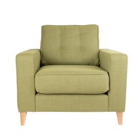 image-Heal's Mistral Armchair Linen Grenadine Black Feet