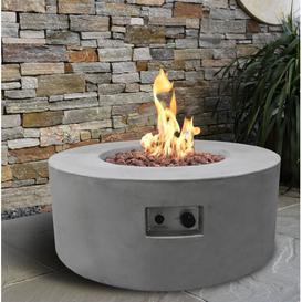 image-Crosslin Concrete Propane Fire Pit Table Sol 72 Outdoor