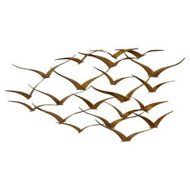 image-Beautiful Patterned Metal Flocking Birds Wall Decor Bay Isle Home