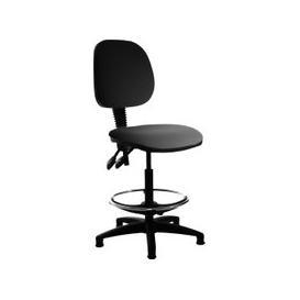 image-Vantage Plus Vinyl Draughtsmans Chair, Black