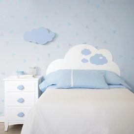 image-Cloud Headboad With Blu Decoration 105