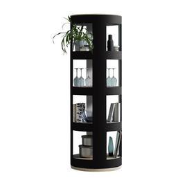 image-Rondaj Corner Bookcase rund:Stil Colour: Black