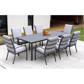 image-Rialto  Garden Dining Set  8 Seats  Grey
