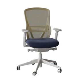 image-Dalton Ergonomic Mesh Task Chair Senator Frame Colour: Black, Colour: Avocado Mesh, Upholstery Colour: Camira Era Slate Grey