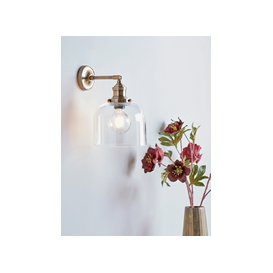 image-Brass & Glass Wall Light