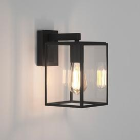 image-Astro 1354003 Box One Light Outdoor Lantern Wall Light In Black - Height: 270mm
