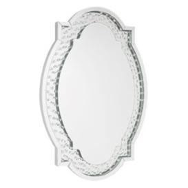 image-Albin Silver Glass Oval Mirror