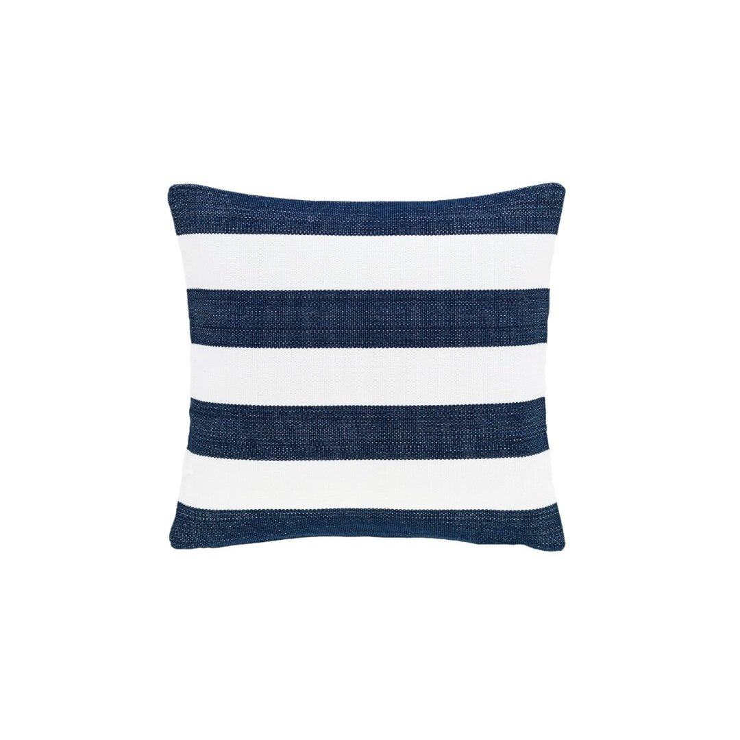 image-Catamaran Stripe Navy/White Indoor/Outdoor Cushion