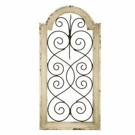 image-Wood/Metal Wall Decor Fleur De Lis Living
