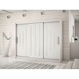 image-Natalie 3 Door Sliding Wardrobe Natur Pur Colour: Matt white