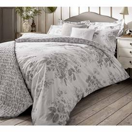 image-Darcey Rose Grey Bed Linen (Super King Duvet Cover)