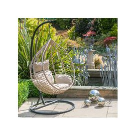 image-LG Outdoor Toulon Rattan Weave Hanging Garden Egg Chair