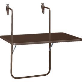 image-Boy Balcony Table Sol 72 Outdoor Colour: Brown