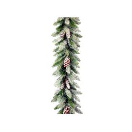 image-Snowy Dunhill Fir PVC Artificial Christmas Garland 9ft by National Trees
