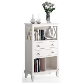 image-Sechelles 124.5cm Bookcase Fleur De Lis Living Finish: Distressed White