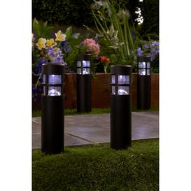 image-Pack of 4 Solar Bollard Path Lights