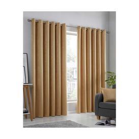 image-Strata Woven Blockout Eyelet Curtains