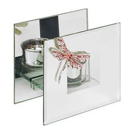 image-Sophia Pink Crystal Dragonfly Glass Tealight Holder