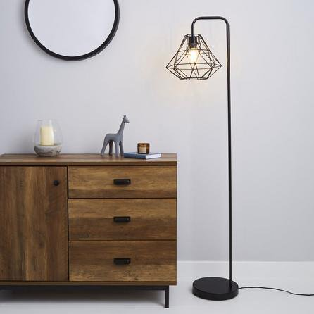 image-Bremen Black Floor Lamp Black